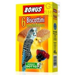 BONUS BISCUITS FOR BIRDS WITH BERRIES PZ. 6