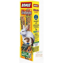 BONUS STICK GHIOTTONCINO FOR DWARF RABBITS AND GUINEA PIGS WITH VEGETABLES PCS. 2