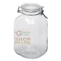 BORMIOLI GLASS JARS FIDO WITH AIRTIGHT CAP CL. 500