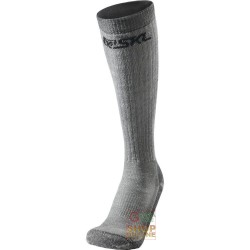 TECHNICAL SOCKS LONG COMPOSED IN MERINO WOOL ACRYLIC POLYAMIDE COLOR GRAY BLACK
