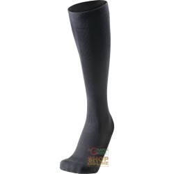 TECHNICAL SOCKS LONG COMPOSED OF MICROFIBER, POLYAMIDE, BLACK COLOUR TG 35 38 39 42 43 46 47 49