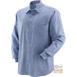 SHIRT 100% COTTON WOVEN CHAMBRAY GR 130 SQ M TG M-L-XL-XXL