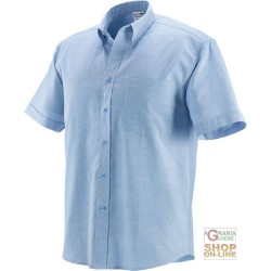 SHIRT 70% COTTON 30% POLYESTER, 140 GR SQM SHORT SLEEVE COLOR BLUE TG M-L-XL-XXL