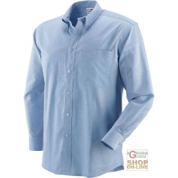 SHIRT 70% COTTON 30% POLYESTER, 140 GR SQM, LONG SLEEVE, COLOR BLUE TG S M L XL XXL