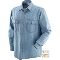 DENIM SHIRT LONG SLEEVE GR 200 SQ M TG M-L-XL-XXL