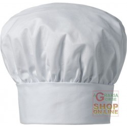 CHEF HAT 100% COTTON PACK OF 10 PIECES COLOR WHITE TG UNICA