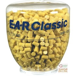 CARICA DA 500 PAIA TAPPI EAR CLASSIC  PER DISPENSER ONE TOUCH  COLORE GIALLO