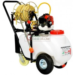 WHEELBARROW FOR DISSERBO AND IRRIGATION, 4-STROKE ENGINE WITH PUMP, HOSE, LANCE AND TANK LT. 50