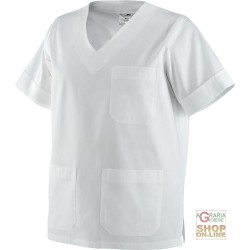 COAT THE MEDICAL USE OF 100% COTTON, COLOR WHITE TG XS XXL