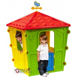 PLAYHOUSE FOR CHILDREN IN THE THERMOPLASTIC RESIN COLORED CM. 108x108x152h