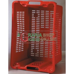 THE BOXES IN PLASTIC FOR OLIVES HARVEST FRUIT BOWL STACKABLE CM.53X35X31H.