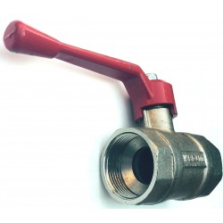 CIM BALL VALVE with complete opening SERIES T-10 LEVER HANDLE IN ALUMINIUM 1.1/4 inch.