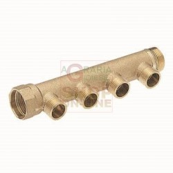 MANIFOLD LINEAR MALE 1 3-WAY 3/4 IN. X 18 INNER: 50 MM.