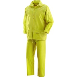 THE FULL JACKET AND PANTS WATERPROOF BOAT YELLOW POLIESTRE AND PVC