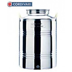 CORDIVARI STAINLESS STEEL CONTAINER LT. 75 PREPARED FOR THE FAUCET