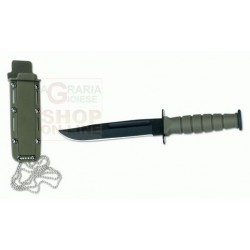 CROSSNAR KNIFE FIXED BLADE WITH FOFERO ABS COLOR GREEN CM. 15