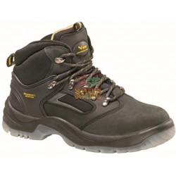 SHOES, SAFETY IN WORK VIGOR IN the LEATHER NUBUCK leather S3 TALL, BLACK TG. FROM THE 39 TO THE 46