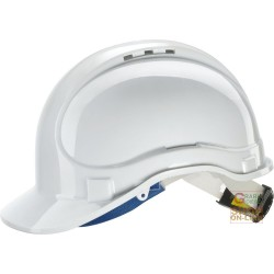 PROTECTIVE HELMET ABS WITH CHIN STRAP AND SWEATBAND RATCHET EN 397 COLOR WHITE