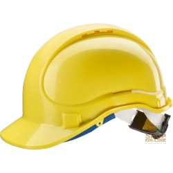 PROTECTIVE HELMET ABS WITH CHIN STRAP AND SWEATBAND RATCHET EN 397-YELLOW COLOR