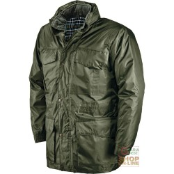 * POLY PVC WITH QUILTED HUSKY INTERNAL DETACHABLE COLOR GREEN TG S-M-L-XL-XXL