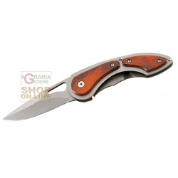 HERBERTZ FOLDING KNIFE WITH BLADE STAINLESS STEEL HANDLE AND GRIP WOOD CM. 18 MOD. 216011