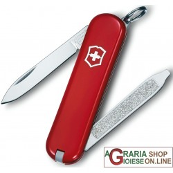 VICTORINOX CLASSIC ESCORT KNIFE KEYCHAIN MULTIPURPOSE COLOR RED MM. 58