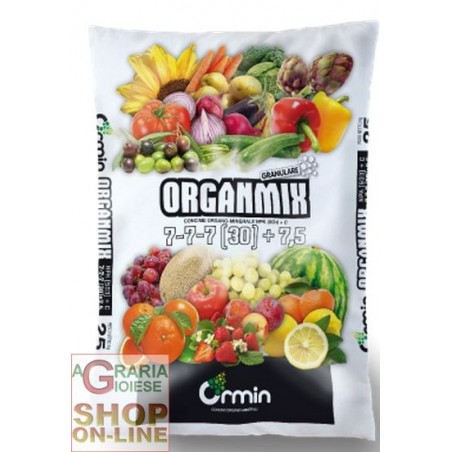 ORGANMIX CONCIME ORGANO MINERALE 7.7.7 (30) +7,5 KG. 25