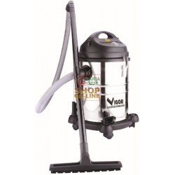 VIGOR CANISTER VACUUM CLEANER VACUUM CLEANER SOLIDS AND LIQUIDS VBA-20L STAINLESS STEEL WATTS 1200