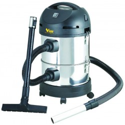 VIGOR CANISTER VACUUM CLEANER VACUUM CLEANER SOLIDS AND LIQUIDS VBA-28L STAINLESS STEEL WATTS 1200