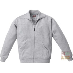 SWEATSHIRT 65% POLYESTER 35% COTTON WITH A ZIPPER AT THE BOTTOM OF THE REINFORCEMENT ON THE ELBOWS