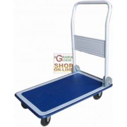 VIGOR TROLLEY WITH PLATFORM ON 4 WHEELS WITH HANDLE FOLDING CRATE HOLDER MULTI-PURPOSE KG. 150