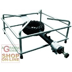 BIG STOVE WITH GAS BURNER GALVANISED STEEL FRAME CM. 40 X 40 HEAVY