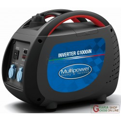 GENERATOR INVERTER PORTABLE PROFESSIONAL MULTIPOWER G1000iN KVA 0,85