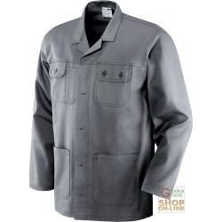 JACKET 100% COTTON PRE-SHRUNK GR 250 MULTIPOCKETS STITCHING IN CONTRAST COLOR GREY TG S XXL