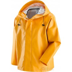 JACKET FISHERMAN IN THE PVC WITH THE SUPPORT OF COTTON AND POLYESTER, SIZE M TO XXL