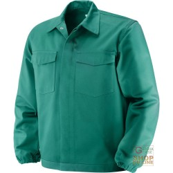 FIRE RETARDANT JACKET IN 100% COTTON FABRIC GR 370 SQM COLOR GREEN TG 46 62