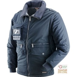 JACKET IN POLYESTER / COTTON WITH PLASTIC SHEETING DETACHABLE SLEEVES BLUE TG S XXL