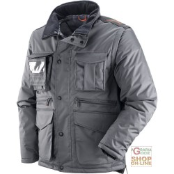 COAT IN POLYESTER PVC WITH PLASTIC SHEETING DETACHABLE SLEEVES COLOR GRAY TG XS-XXXL