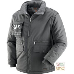 JACKET IN POLISTERE COTTON WITH PLASTIC SHEETING DETACHABLE SLEEVES COLOUR GREY TG S XXL