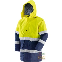JACKET IN FABRIC GB TEX WITH PADDING BANDS 3M EN 471 EN 343 YELLOW COLOR BLU TG S XXL