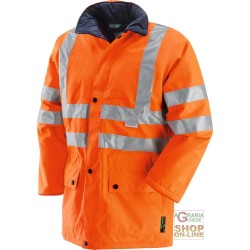 JACKET IN FABRIC GB TEX WITH PADDING BANDS 3M EN 471 EN 343 COLOUR ORANGE TG S XXL