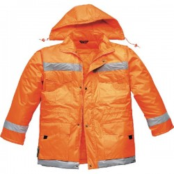 JACKET NYLON PVC ORANGE TG. M TO 3XL