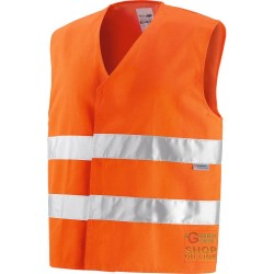 VEST V-40% POLYESTER 60% COTTON GR 240 SQUARE METERS APPROX WITH BANDS 3M COLOR ORANGE TG M-L-XL-XXL