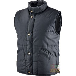 VEST COTTON POLYESTER PADDED WITH CRADLE INTERIOR COLOR NERO TG S-M-L-XL-XXL