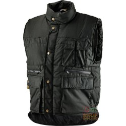 VEST COTTON POLYESTER MULTIPOCKETS PADDED COLOR NERO TG S-M-L-XL-XXL