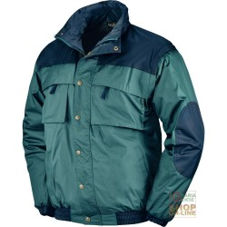 NYLON JACKET PVC INNER FLEECE COLOR GREEN BLUE TG S M L XL XXL