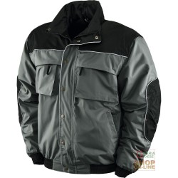 JACKET IN POLYESTER, PVC INSIDE FLEECE COLOR GREY BLACK TG M XXL