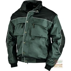 JACKET IN POLYESTER WITH PVC INNER FLEECE GREEN OIL BLACK TG M XXL