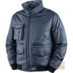 JACKET IN POLYESTER PVC WITH PLASTIC SHEETING AND BANDS HV FOLDAWAY HOOD BLUE TG S XXL