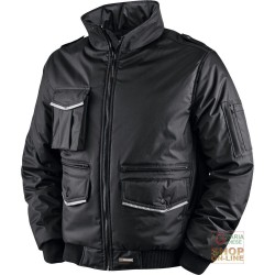 JACKET IN POLYESTER PVC WITH PLASTIC SHEETING AND BANDS HV FOLDAWAY HOOD COLOR BLACK TG S XXL